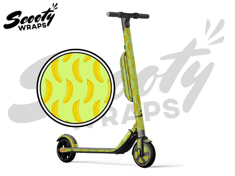 Segway Ninebot ES4 electric scooter wrap bananas