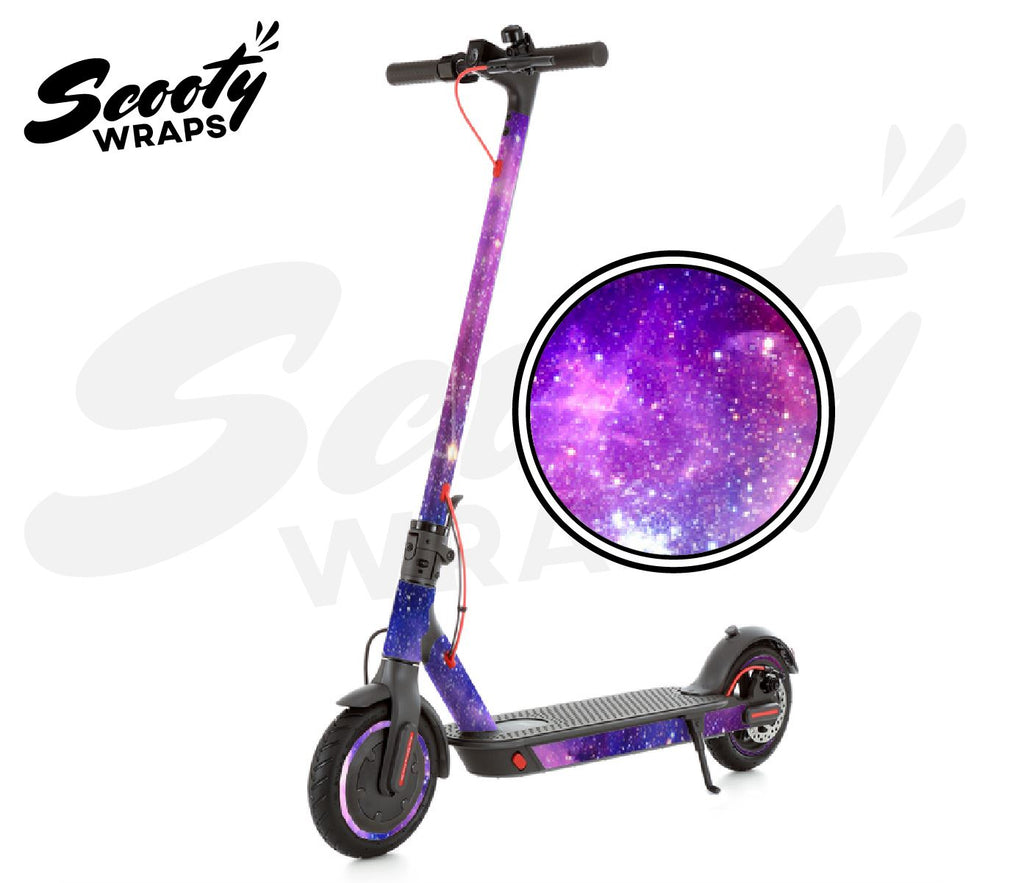 Electric Scooter Wrap  Xiaomi M365 Pro - Purple Galaxy