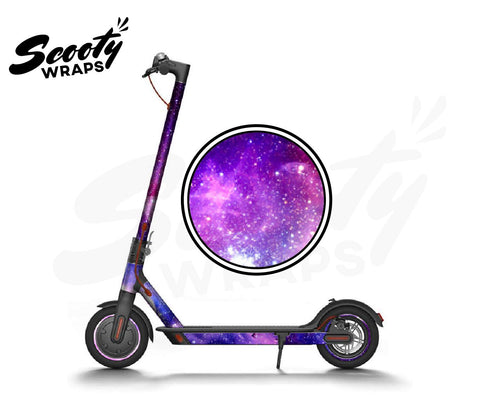 Electric Scooter Wrap  Xiaomi M365 - Purple Galaxy