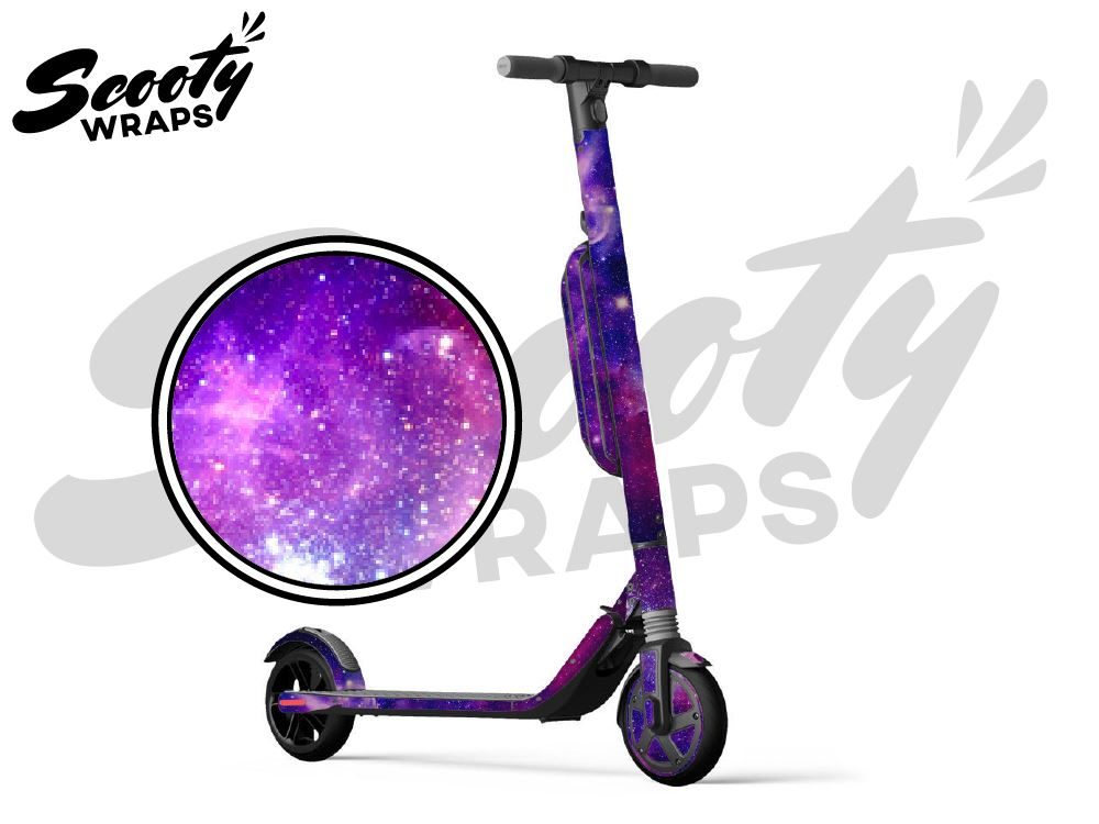 Segway Ninebot ES4 electric scooter wrap Galaxy purple