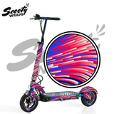 electric scooter wrap apollo City purple lasers