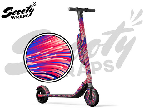 Segway Ninebot ES4 electric scooter wraps purple lasers