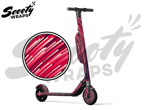 Segway Ninebot ES4 electric scooter wraps red lasers