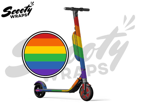 Segway Ninebot ES4 electric scooter wraps pride rainbow