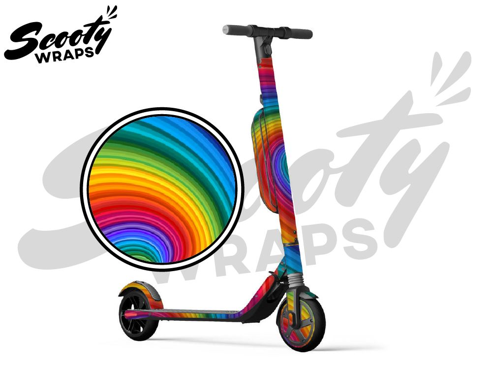Segway Ninebot ES4 electric scooter wraps pride rainbow wave