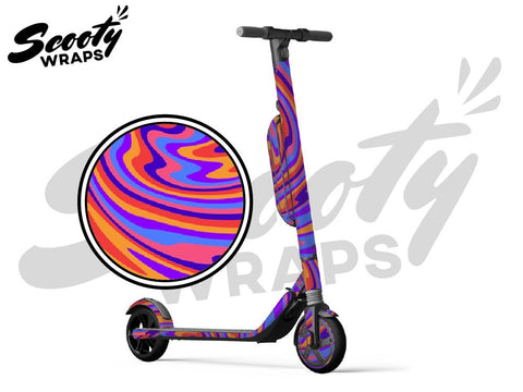 Segway Ninebot ES4 electric scooter wraps Psychedelic purple