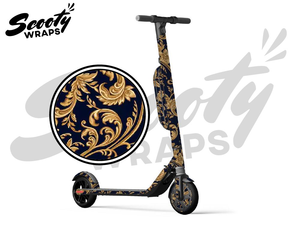 Segway Ninebot ES4 electric scooter wraps Royal Gold