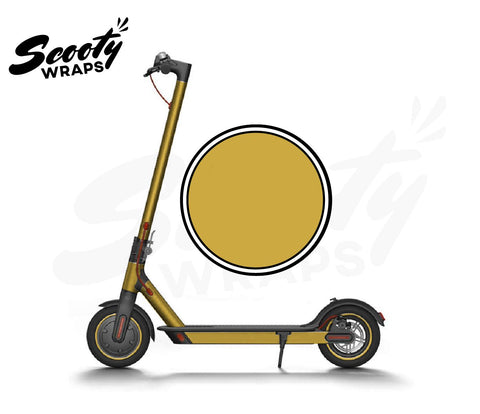 Electric Scooter Wrap  Xiaomi M365 - Gold