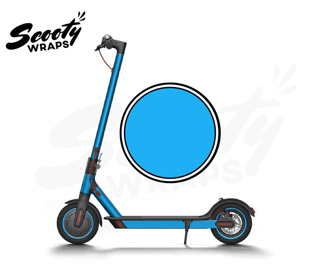 Electric Scooter Wrap  Xiaomi M365 - Light Blue