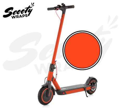 Electric Scooter Wrap  Xiaomi M365 Pro - Red Orange