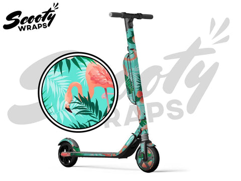 Segway Ninebot ES4 electric scooter wraps tropical flamingo