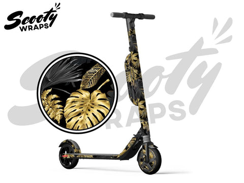 Segway Ninebot ES4 electric scooter wraps tropical gold