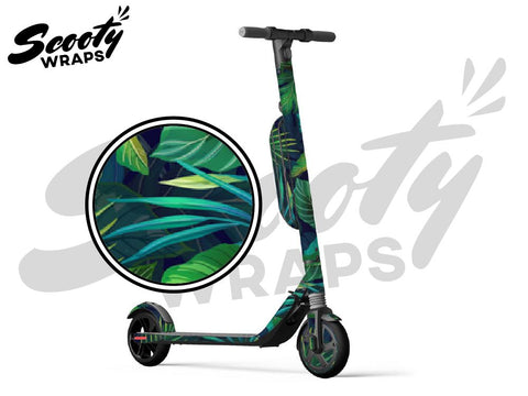 Segway Ninebot ES4 electric scooter wraps tropical green