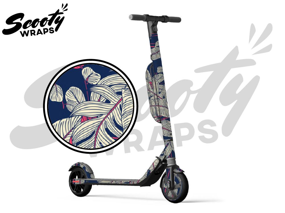 Segway Ninebot ES4 electric scooter wraps tropical Navy