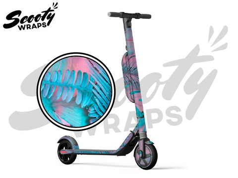 Segway Ninebot ES4 electric scooter wraps tropical PINK