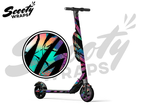 Segway Ninebot ES4 electric scooter wraps tropical retro