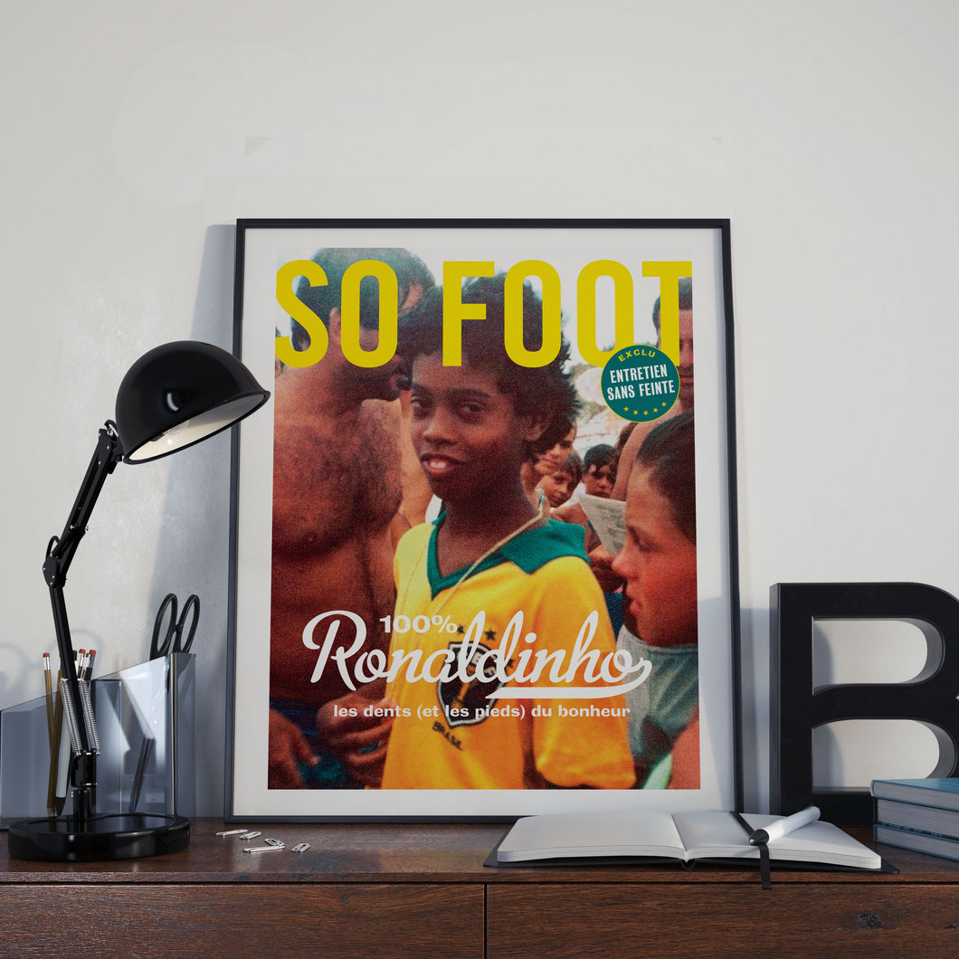 Affiche Ronaldinho, So Foot #148