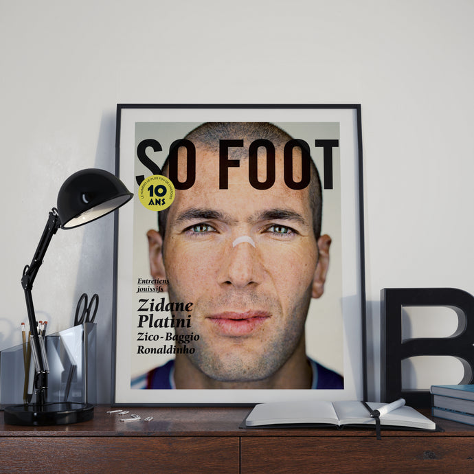 Affiche Zidane 10 ans, So Foot #108
