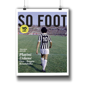 Affiche Platini 10 ans, So Foot #108