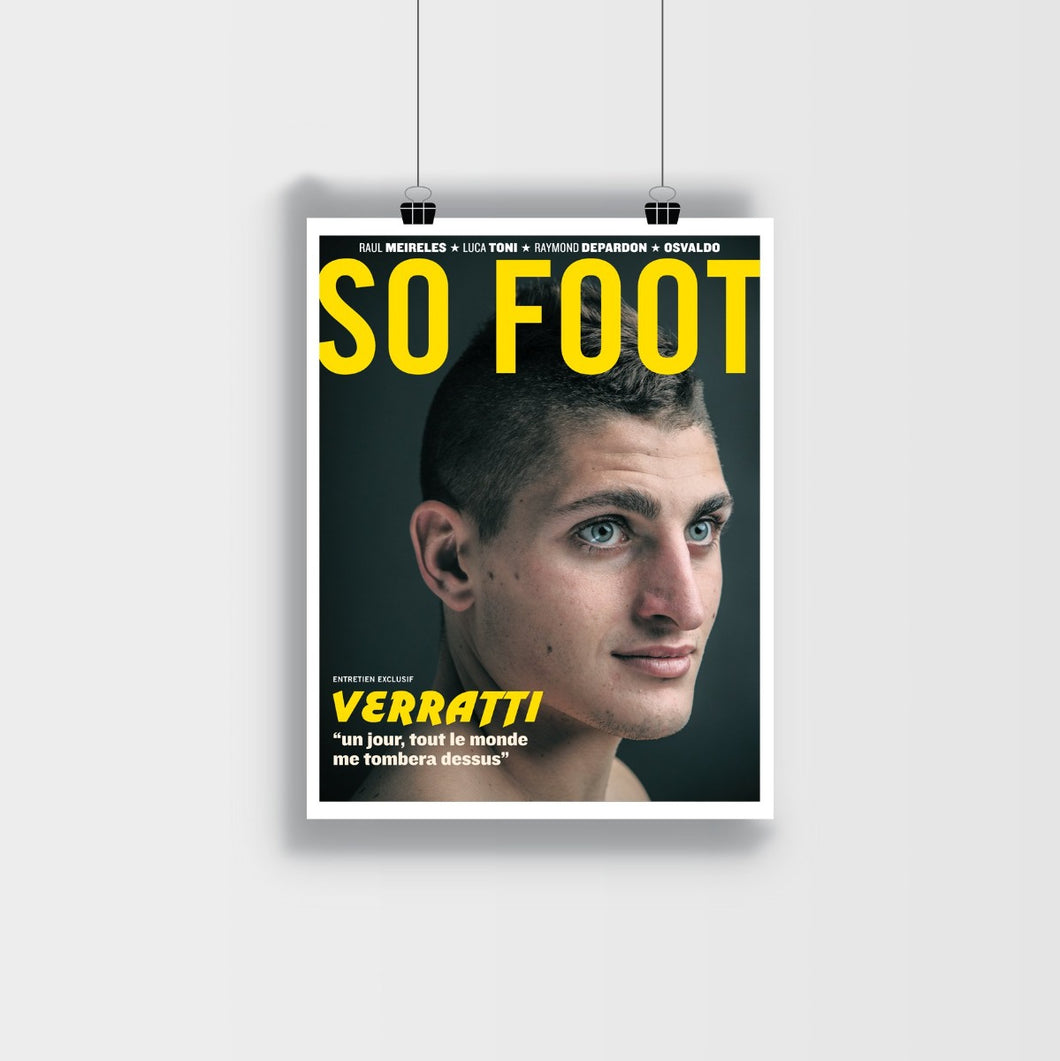 Affiche Marco Verratti, So Foot #125