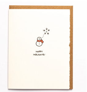 Greeting Card: HAPPY HOLIDAY SNOWMAN