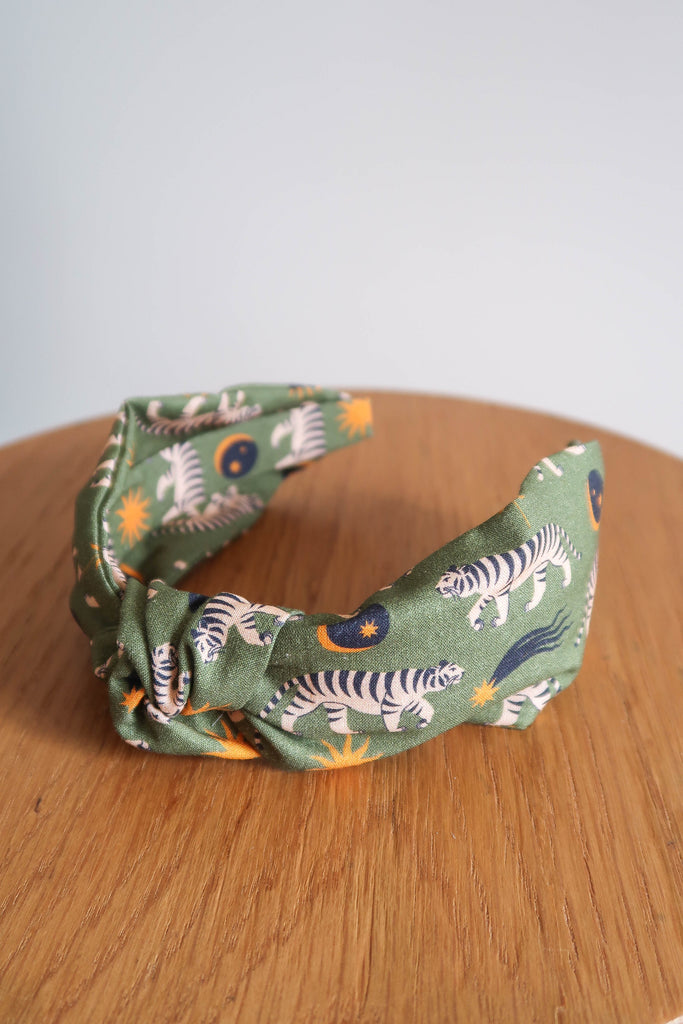 Mia Winston-Hart Green Tiger Knotted Hairband