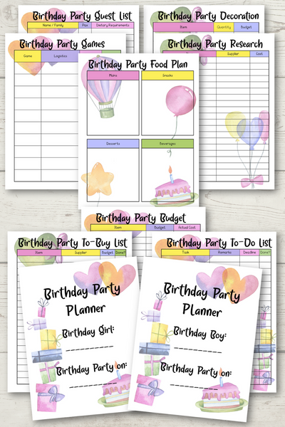 Birthday Party Planner {Girl or Boy} - (11 Pages)