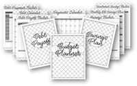 Black & White Printable Budget Binder {165 Pages}