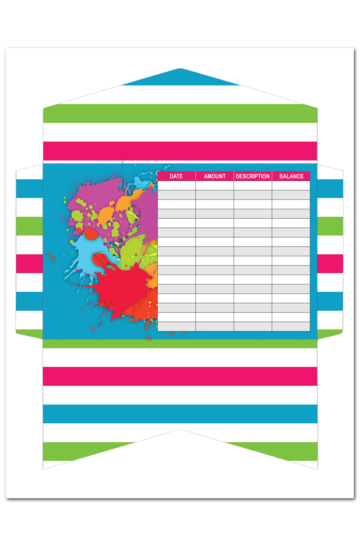 Cash Envelope - Colorful Stripes (1 Page)