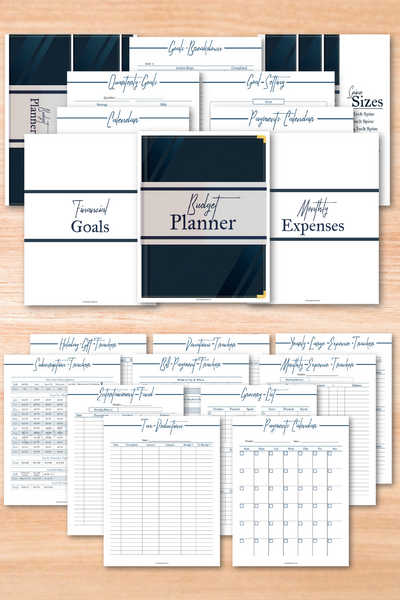 Navy Budget Binder Printables {163 Pages}