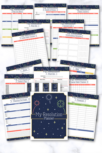 New Year Resolutions Planner {29 Pages}