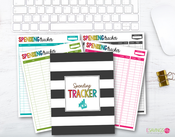 Spending Tracker Printable & Digital Versions (Auto-Calculating)