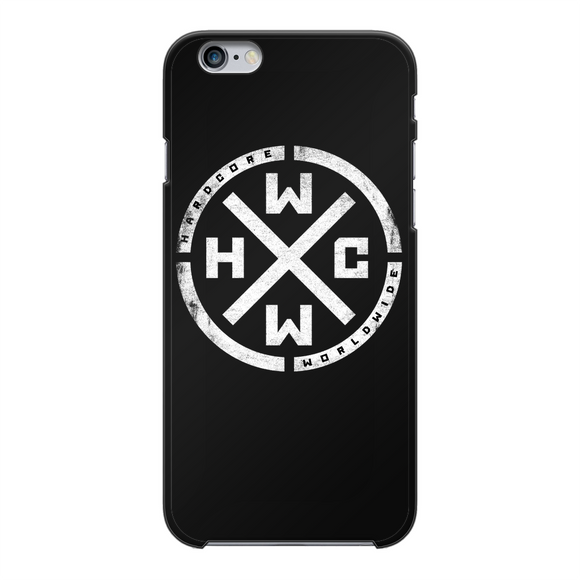 HCWW Back Printed Black Hard Phone Case