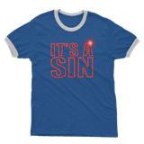 IT'S A SIN - THE 80'S REVISITED- Adult Ringer T-Shirt