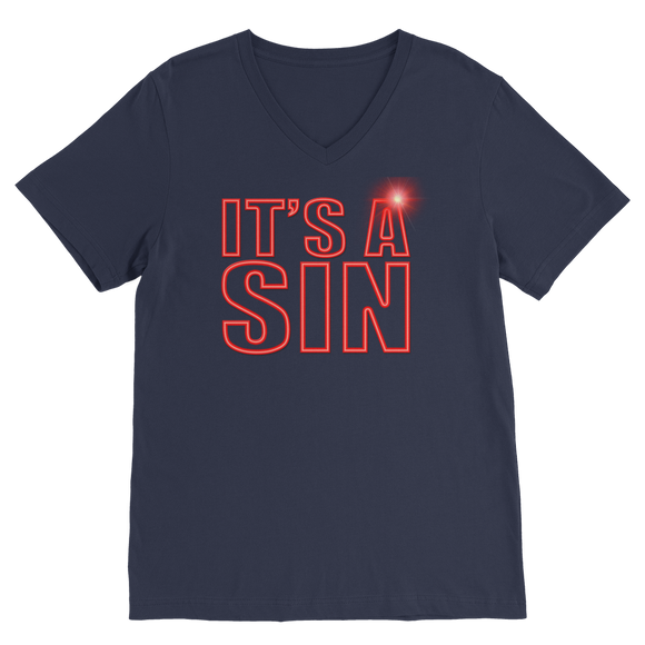 IT'S A SIN - THE 80'S REVISITED Premium V-Neck T-Shirt