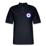 1960s Mod Men's Pique Polo Shirt - midnight navy