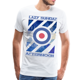 1960's Mod Lazy Sunday T-Shirt - white