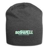 SoSwell Premium Sportswear Jersey Beanie - charcoal gray