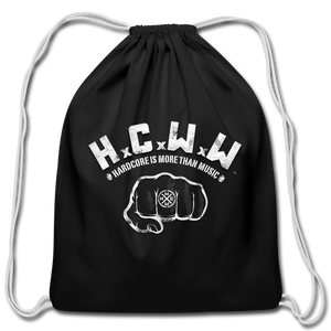 HCWW - Official Cotton Drawstring Bag - black