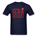 IT'S A SIN - THE 80'S REVISITED -Unisex Classic T-Shirt - navy