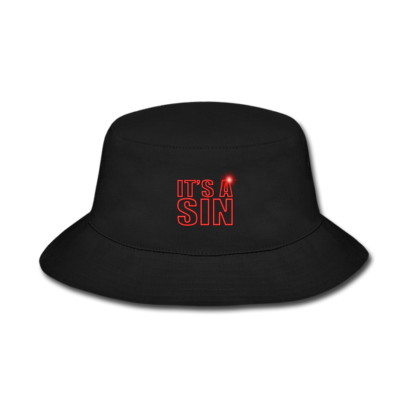 It' A Sin Official Bucket Hat - black