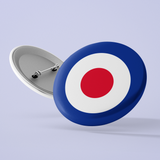 1960s Mod Target Buttons large 2.2'' (5-pack)