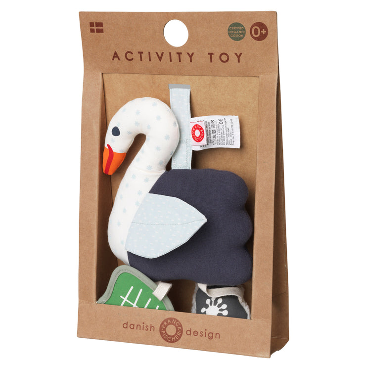 Activity Toy Schwan in Weiss