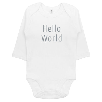 Babylotta Bio Design Baby Body Hello World - Weiss