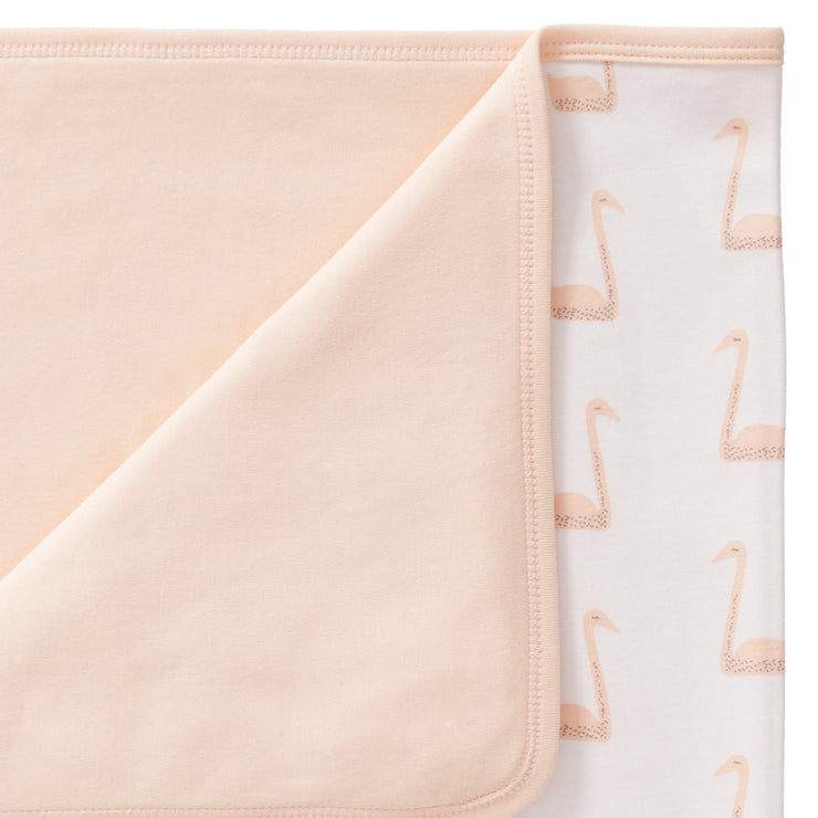 Bio Babydecke Schwan in Pale Peach