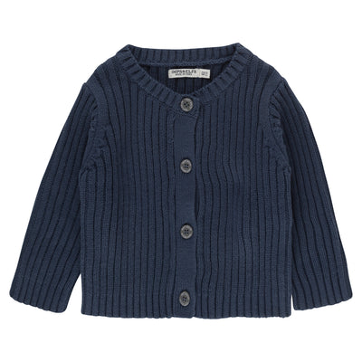 Bio Baby Strickjacke in Dunkelblau