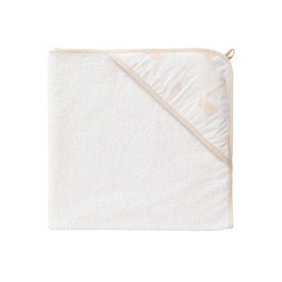 Baby Bio Bade-Kapuzentuch Schwan in Pale Peach