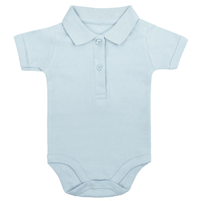 Bio & Fair Trade Polo-Babybody in Hellblau von Babylotta