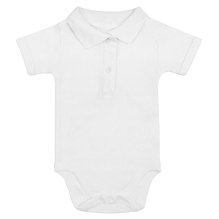 Bio & Fair Trade Polo-Babybody in Weiss von Babylotta