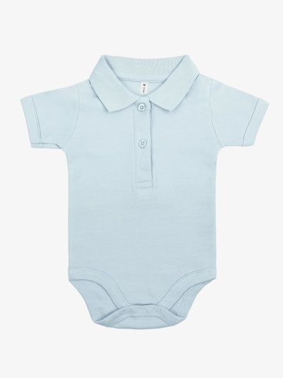 Bio & Fair Trade Polo-Babybody in Hellblau